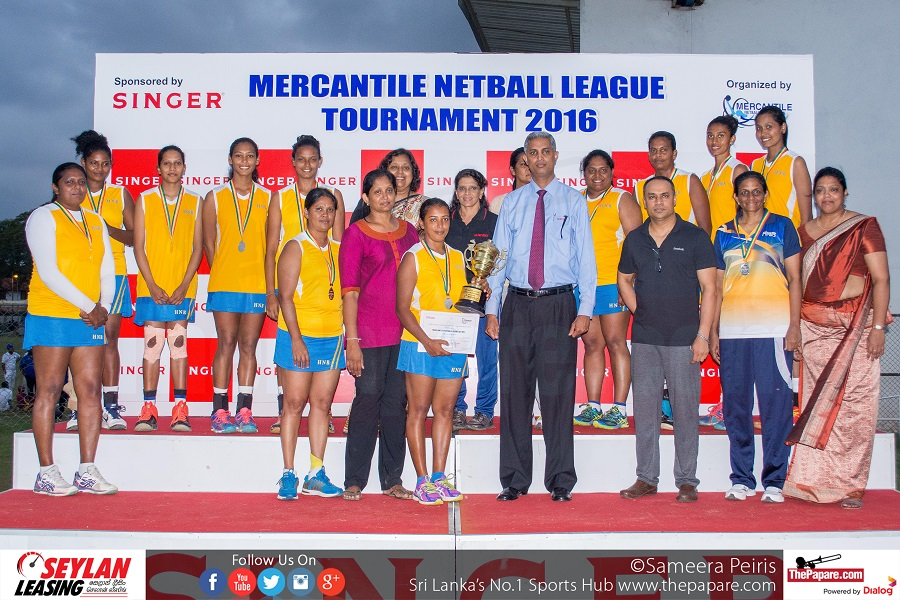 HNB - 'A' Division Runners-up (Mercantile Netball League 2016)
