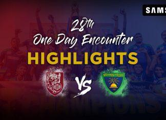 Match Highlights - Sri Sumangala College Vs Moratu Maha Vidyalaya | 28th One Day Encounter