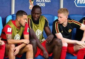 Eden Hazard (L), Lukaku (M) & De Bruyne (R)