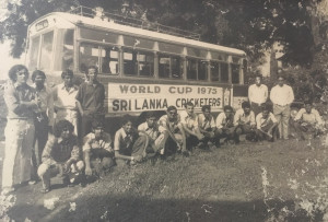The Ceylon team that flew to England for the 1975 World Cup