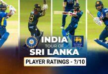 Player Ratings | India's tour of Sri Lanka 2021