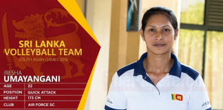 National Volleyball Team – South Asian Games 2016 (Womens)