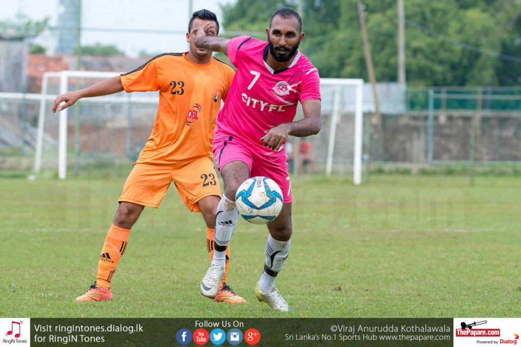 Janaka Chaminda in action against Matara City - FA Cup Pre Quarter Final