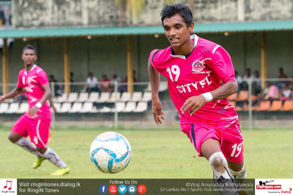 Java Lane's Naveen Jude in action against Matara City - FA Cup Pre Quarter Final