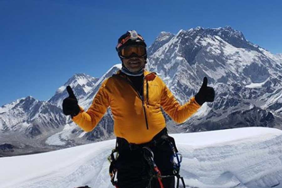 Johann ready for the last phase of Everest summit