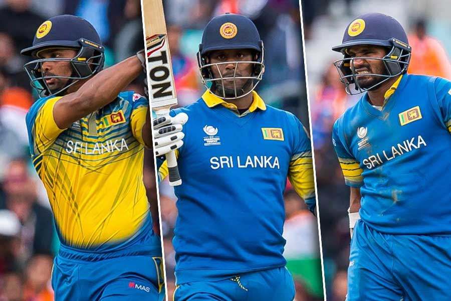 Kusal Janith, Asela Gunaratne and Angelo Mathews
