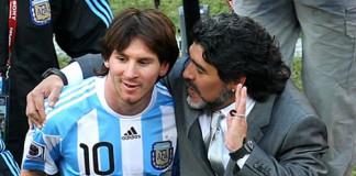 Maradona and Messi