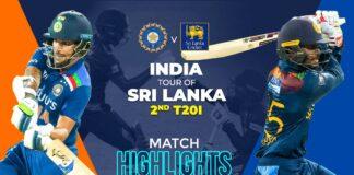 Sri Lanka vs India, 2nd T20I – Match Highlights