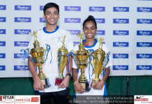 Mihiliya Methsarani and Shameel Wakeel Winners Junior National Squash
