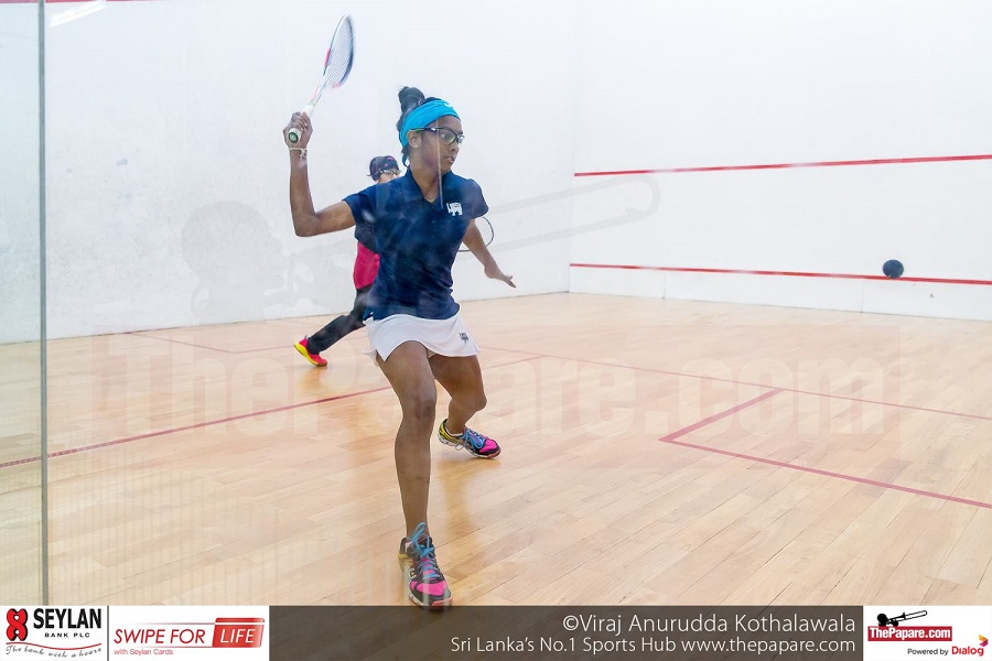 Mihiliya Methsarani in action in the under 19 girls' final