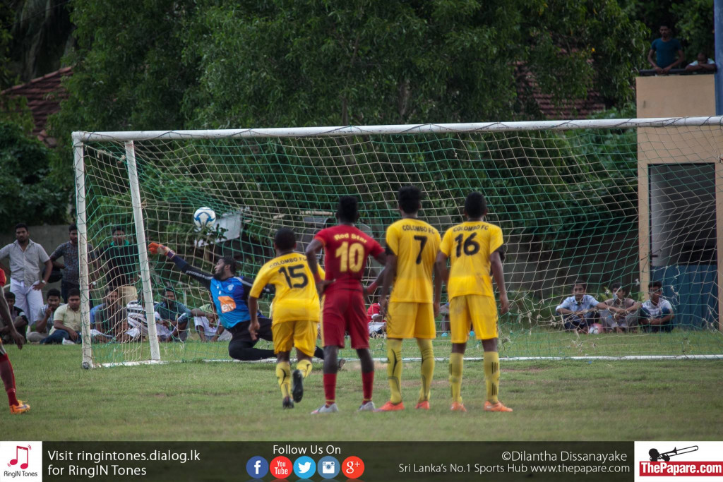 Mohamed Rahuman (not in picture) scores a penalty - FA Cup Round of Last 32