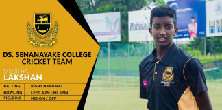 Muditha Lakshan takes 7- for DS Senanayake