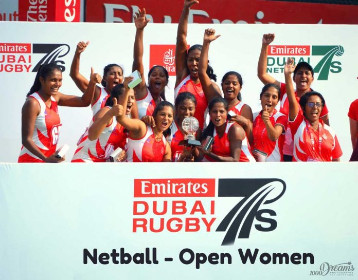 Sri Lanka Navy - Champions 2017 Emirates Airline Dubai Rugby Sevens Open Women's Netball