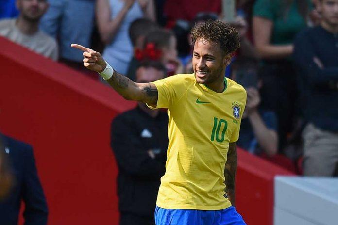 Neymar shines on Brazil