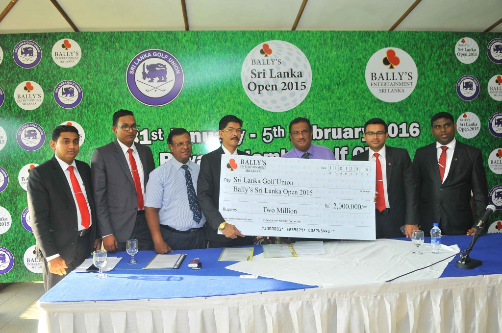 BALLY'S ENTERTAINMENT ENRICHES GOLF SRI LANKA WINS TITLE SPONSORSHIP OF SRI LANKA OPEN 2015