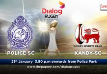 Police SC v Kandy SC – Dialog Rugby 16/17 – 21st Jan
