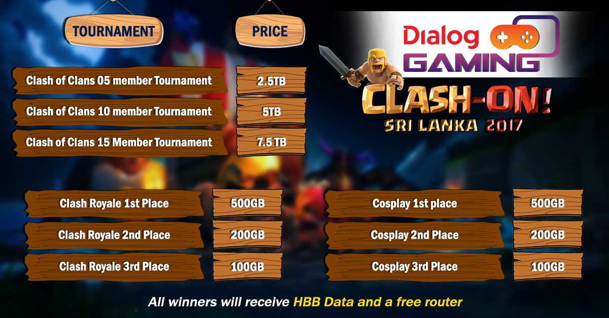 Prizes-for-Dialog-Gaming-Clash-On-2017