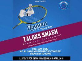 Rayyan Talons Smash 2018