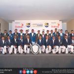 Royal and S.Thomas' squads with the D.S.Senanayake Shiled