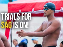 Swimming trials for SAG 2019
