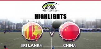SL vs CHN Asia U20 Sevens