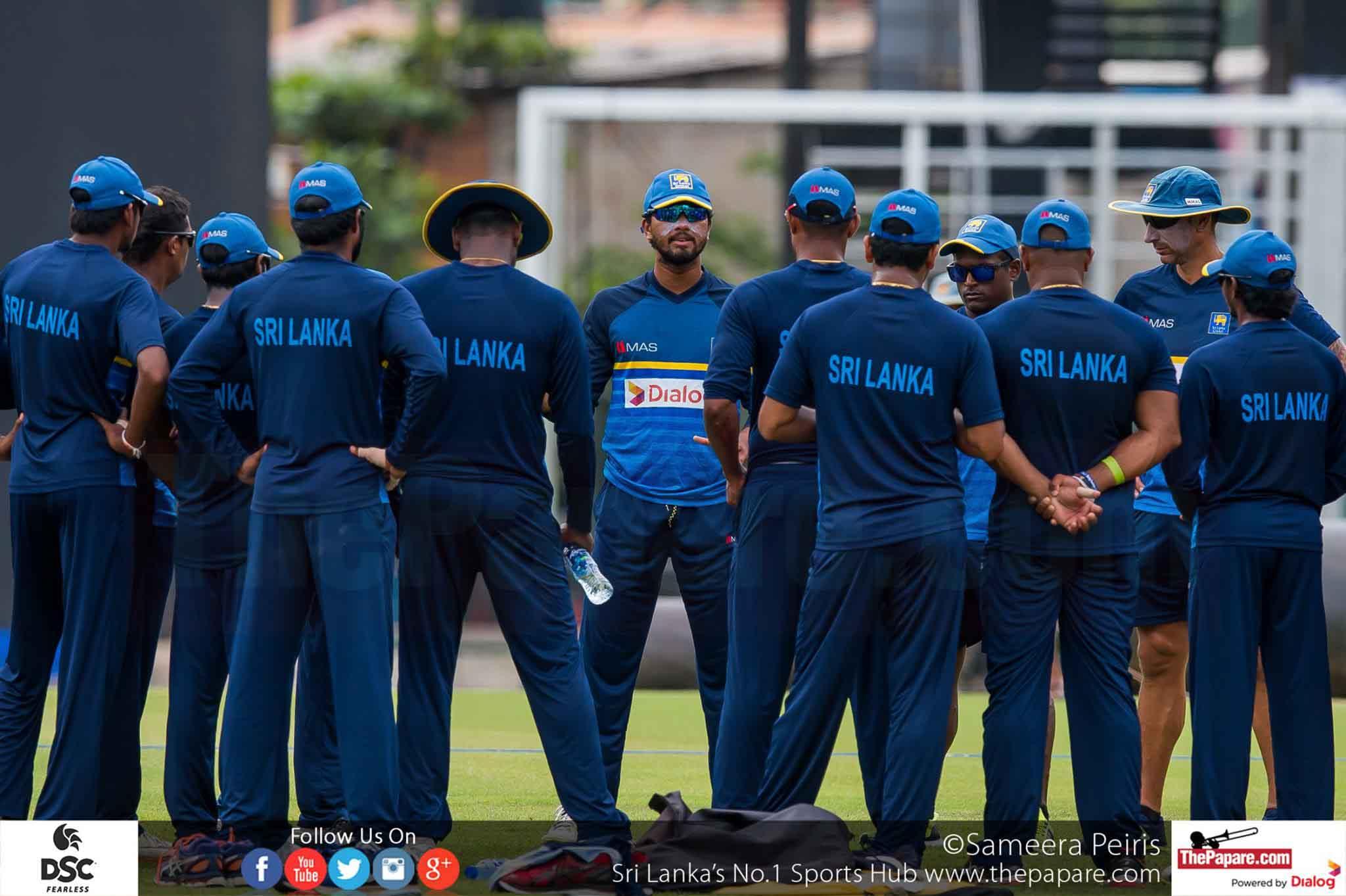 Sri Lanka Team Practices ahead of Zimbabwe Test