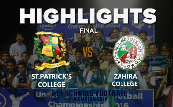 Highlights - St.Patrick's v Zahira