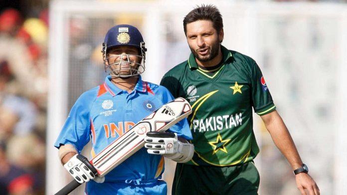 Sachin Tendulkar and Shahid Afridi