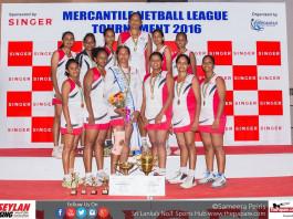 Seylan Bank - 'A' Division Champions (Mercantile Netball League 2016)