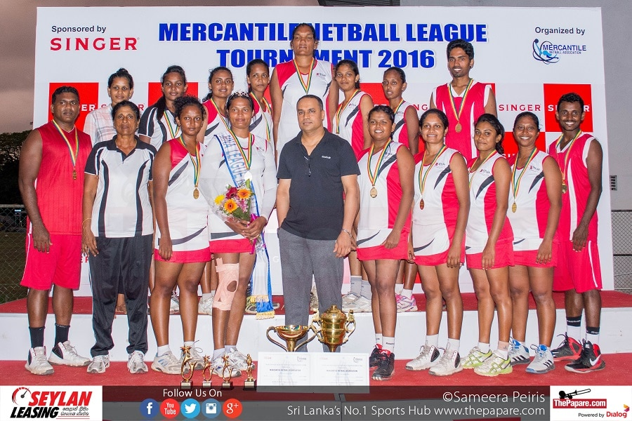 Seylan Bank - Overall Champions (Mercantile Netball League 2016)