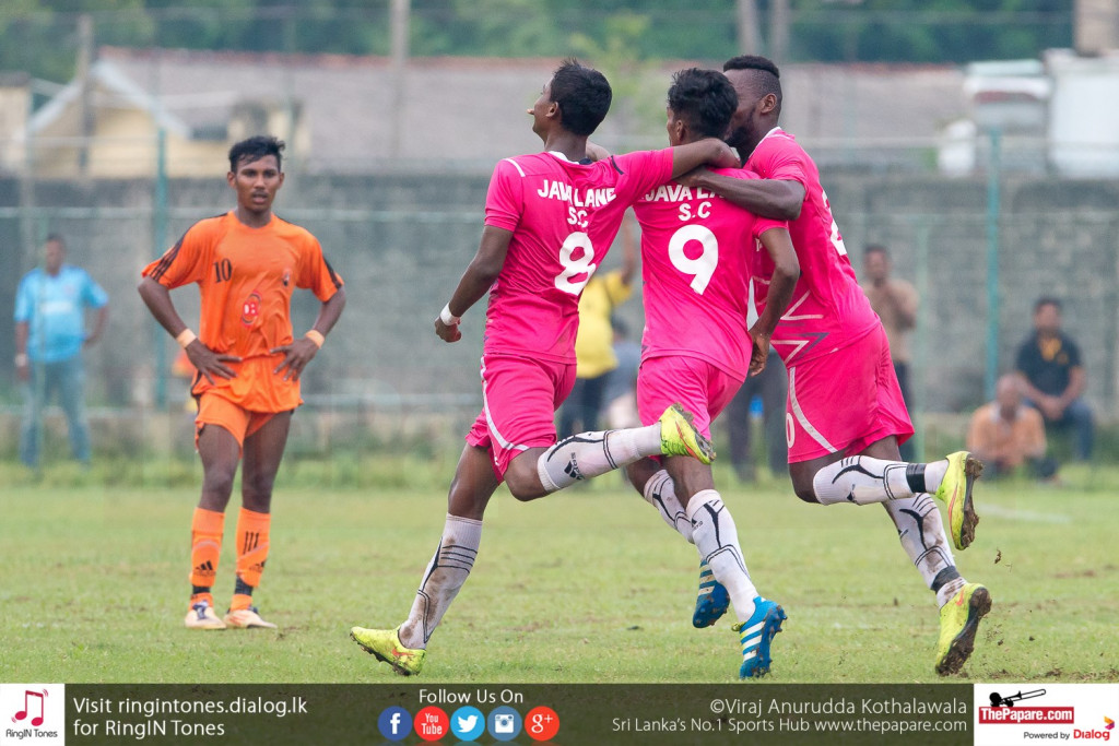 Shabeer (L) and Malaka (M) celebrate scoring the first goal against Matara City - FA Cup Pre Quarter Final