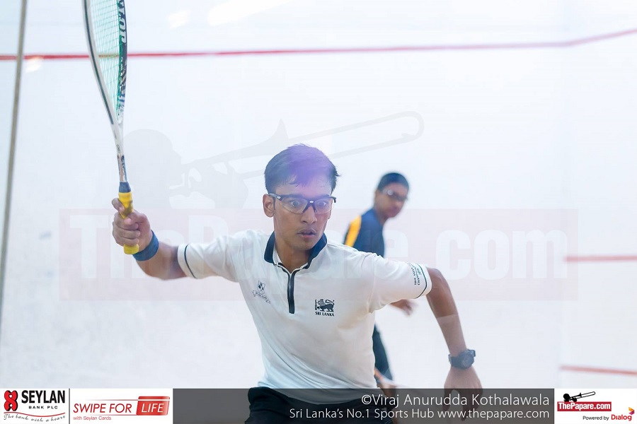 Shameel Wakeel in action in the under 19 boys' final