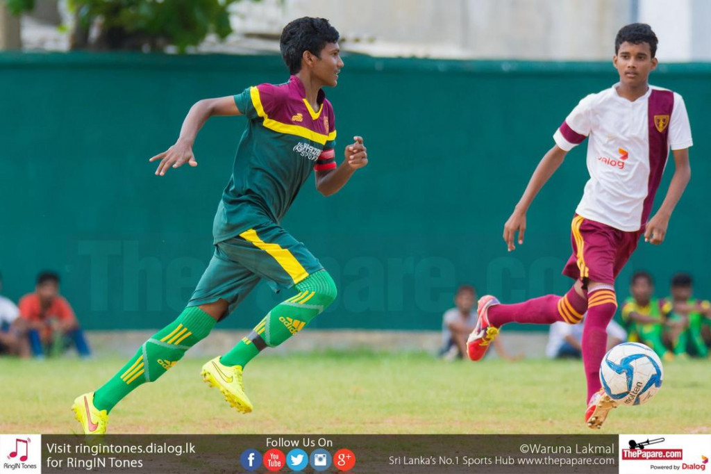 Skipper Mohamed Aman in action for Hameed Al Husseinie - Schools Football 2016