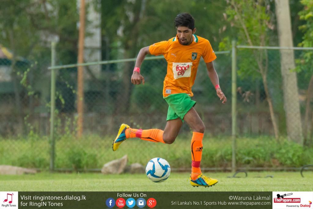 Solid SC's Thakshila Danoj in action against Kirulapone United - FA Cup (Last 32 Round)