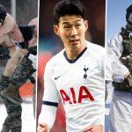 Son undergo military training in South Korea