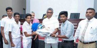 Sports Ministry provides cricket gear