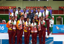 Sri Lanka Men's and Women's Table Tennis Teams - SAG 2016