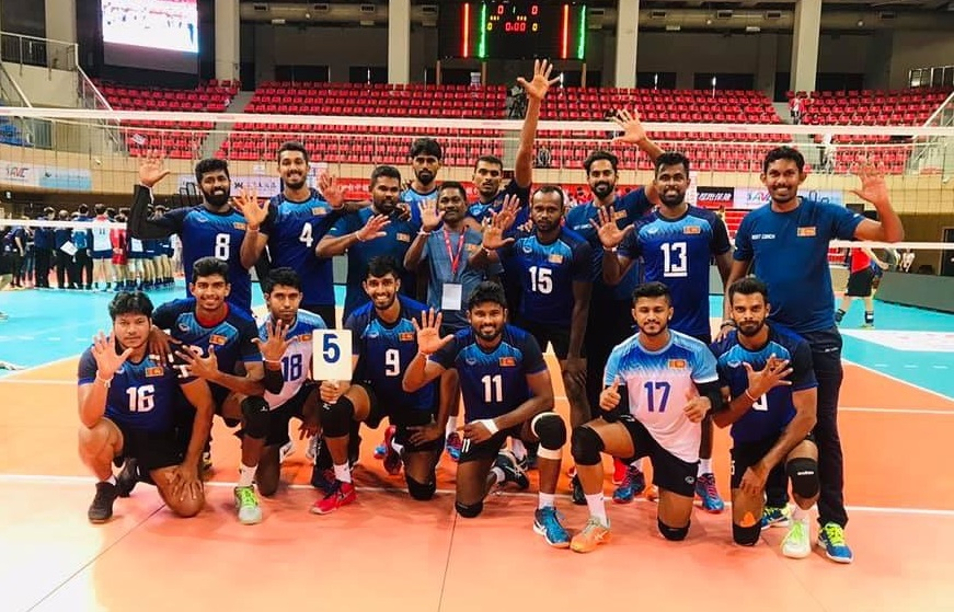 Sri Lanka Ports Authority 5th place in Asian Men's Club Volleyball Championship 2019