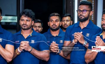 Sri Lanka Team Departure for India