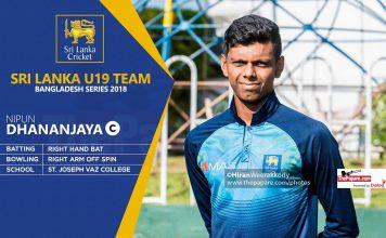 Sri Lanka U19 Team Captan