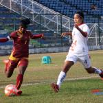 Sri Lanka captain Erandi Liyanage (L) in action against Bhutan at the 4th SAFF Women's Championship 2016