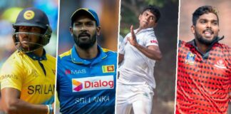 Twelve Sri Lankan players