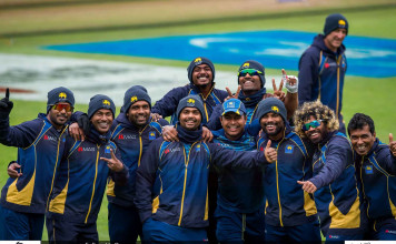 Sri Lanka team 1st practices at Cardiff