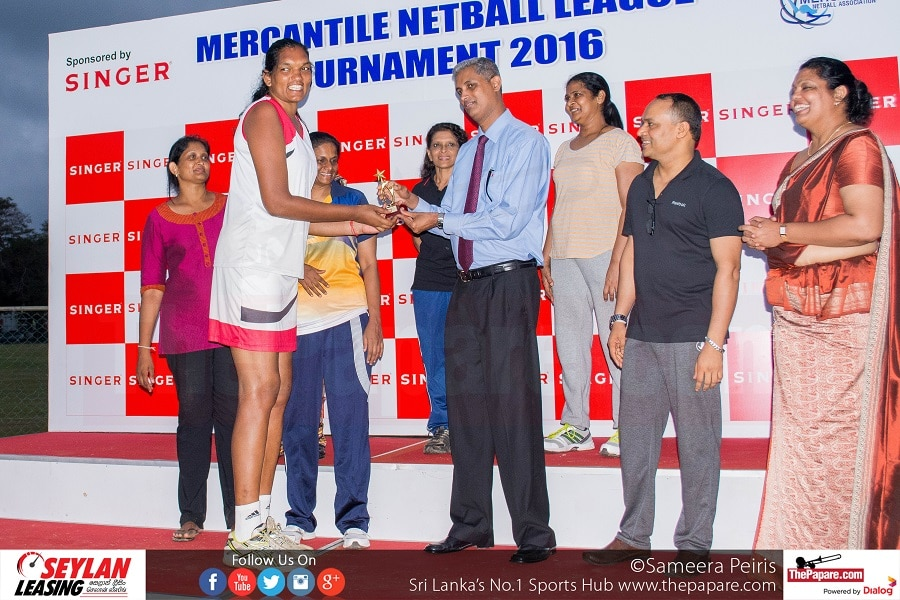 Tharjini Sivalingam (Seylan Bank) - Best Shooter(Mercantile Netball League 2016)