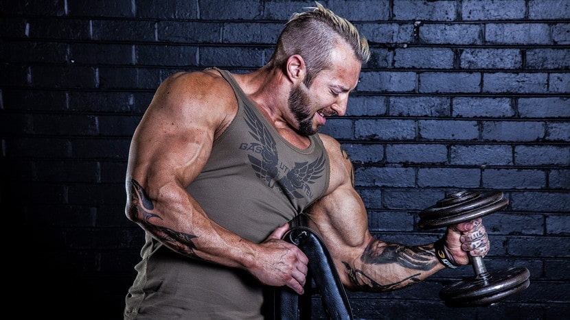 If you want Gethin-level intensity in the gym, you need to take your workout ritual as seriously as he does. Here's your plan, down to the minute, with an arm workout to put your preparation to the test!