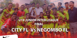 City FL v Negombo FL (2016 U19 Junior Inter League Final)
