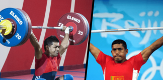 Sri Lankan weight lifters