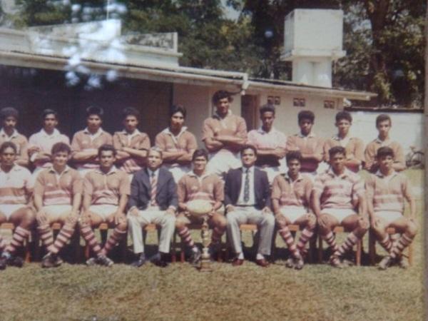 Havelock SC team photo 1988 with Sanjaya Amunugama (right extreme standing)