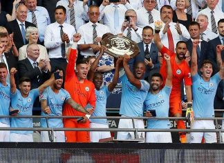 Aguero double wins Community Shield for Man City