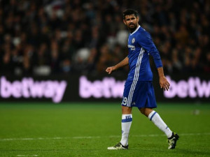 Diego Costa couldn't help Chelsea tonight (Getty)